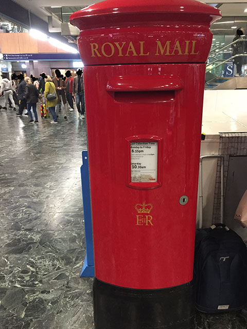Euston Station Royal Mail Postbox